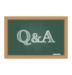 Questions and answers text on chalkboard vector