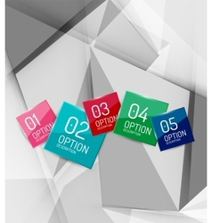 Color paper infographics vector
