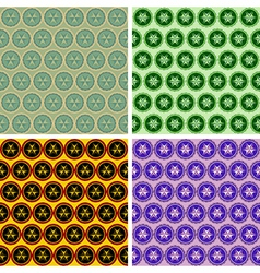 Seamless abstract geometrical art pattern set vector