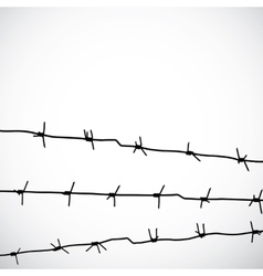 Barbed wire silhouettes vector
