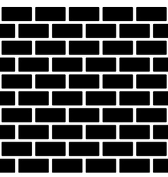 Black brick wall seamless pattern Simple building vector image