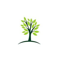 Green tree ecology abstract logo vector
