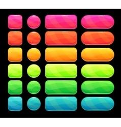 Bright spectrum buttons set vector image
