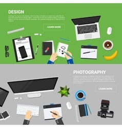 Flat design concepts for creative process vector
