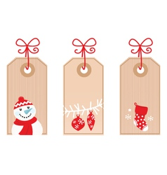 Retro christmas gift tags vector