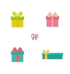 Cute present objects vector
