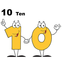 Number Ten vector image