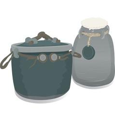 clay pots vector image