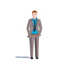 a guy in a suit vector image vector image