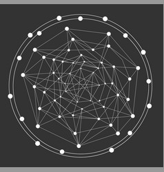 abstract dots and line shape connection- vector image