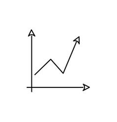 arrow chart icon vector image