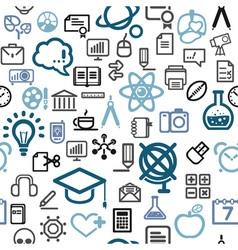 Background made of education icons vector