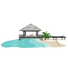 beach resort vector image