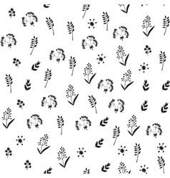 Black and white floral seamless pattern with vector image vector image