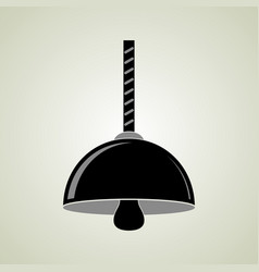 Black hanging ceiling lamp vector