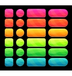 Bright spectrum buttons set vector
