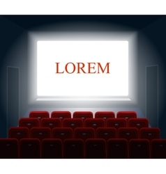 Cinema with white screen Theater and show vector image
