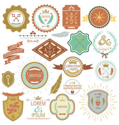 collection of vintage labels and stamps vector image vector image