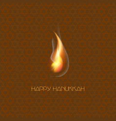 happy hanukkah jewish holiday hanukkah greeting vector image vector image