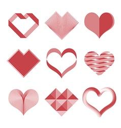 Hearts set vector