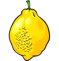 Lemon citrus fruit cartoon vector