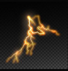 Lightning and thunderbolt vector