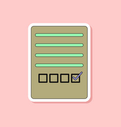 paper sticker on stylish background checklist vector image vector image