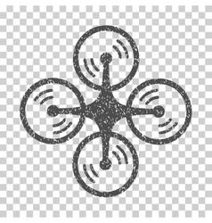 Quadcopter screw rotation grainy texture icon vector