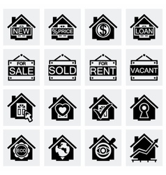 Real estate icon set vector image