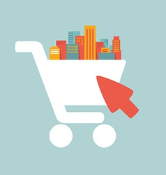 shopping in the big city vector image vector image