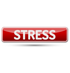 stress - abstract beautiful button with text vector image