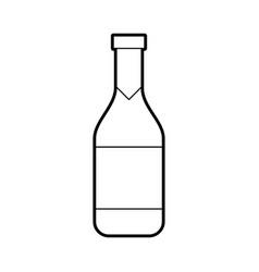 Wine bottle isolated icon vector