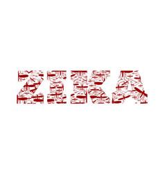 zika virus word vector image