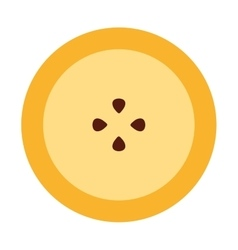 Passionfruit fresh fruit icon vector