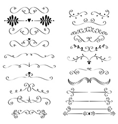 Flourishes ans curls vector