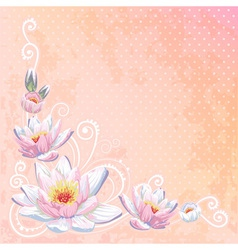 Beautiful spring floral postcard vector
