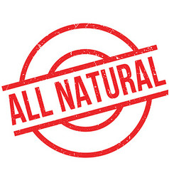 All natural rubber stamp vector
