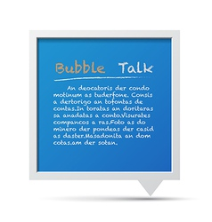 3d bubble talk blackboard design element eps10 vector