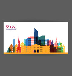 oslo colorful architecture vector image