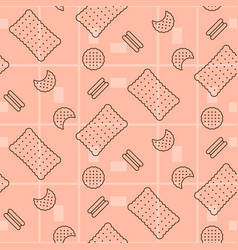 Biscuit pink seamless pattern vector