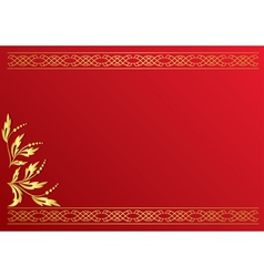 Red card with golden decoration vector