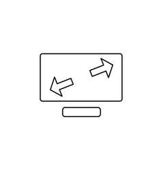 expand monitor icon vector image