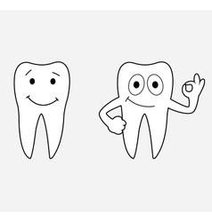 Cartoon teeth vector image