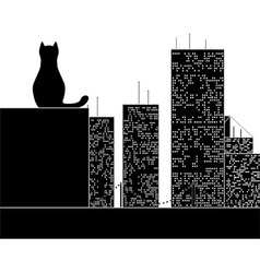 Big city cat vector