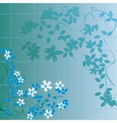 Floral abstract foliage vector