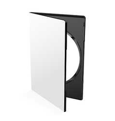 Blank Dvd Case vector image