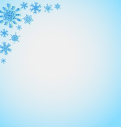 Snowflakes in the corners vector