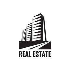 Real estate - logo concept design vector