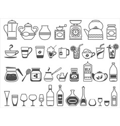 Kitchen tools and utensils vector