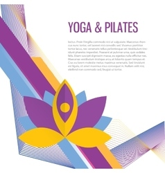 Yoga sport gym background vector